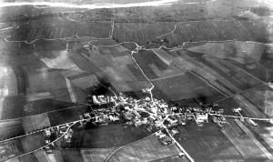 Luftbild Garching früher