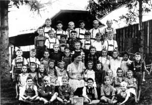 Eine 4. Schulklasse 1950